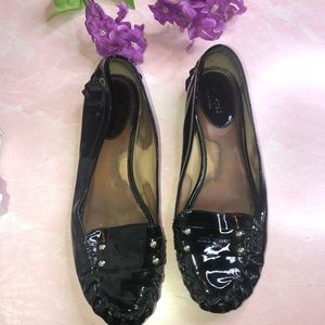 Kate Spade Black Patent Leather Loafers